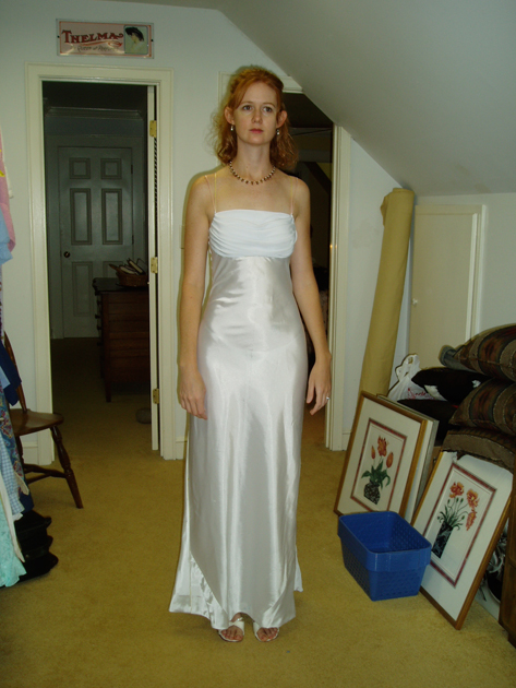 Retrospective: Katie\'s bias cut silk charmeuse wedding dress