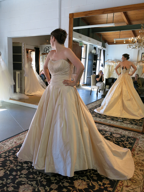 Loula in the bridal boutique