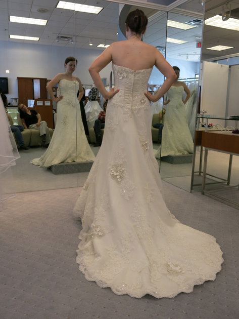 Loula in the bridal boutique 2