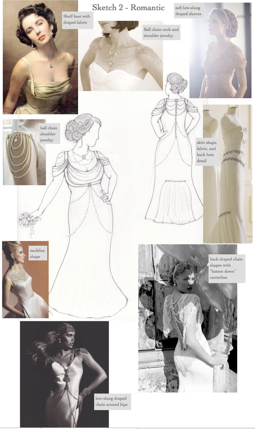Loula's custom wedding dress inspirations for romantic look #2
