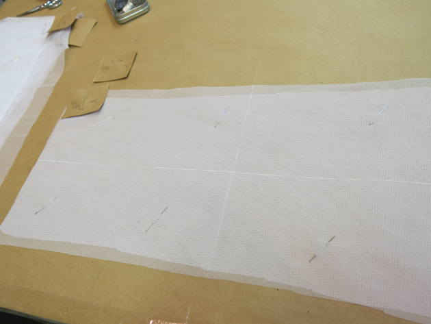 bodice net ready for stitching
