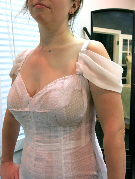 Loula's bustier first fitting -corrected