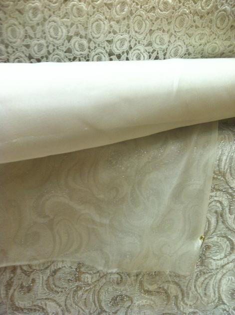 Silver Swirl with white chiffon