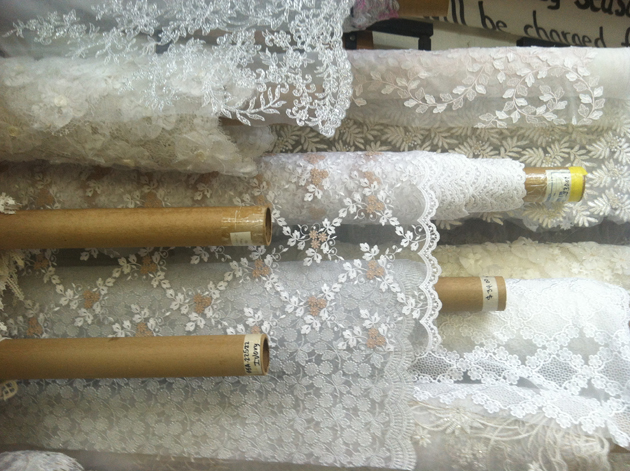 Mary Jo's lace department