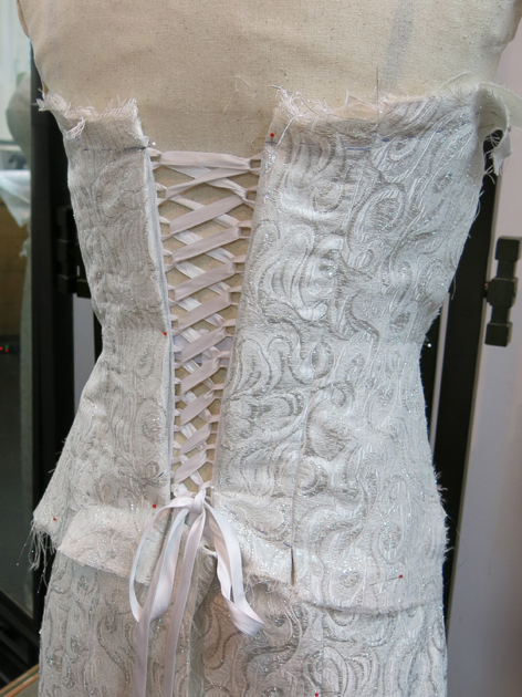 Loula's bustier laced up!