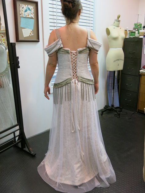 Loula's final fitting dress back