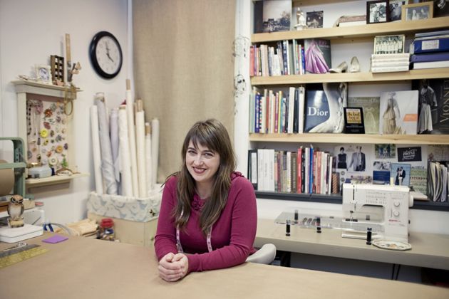 Brooks Ann in her home sewing room December 2011 Photograph by Shaena Mallett