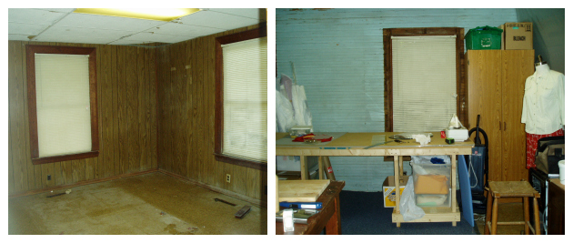 Brooks Ann's Hillsborough Home Sewing Room during Renovations in 2005