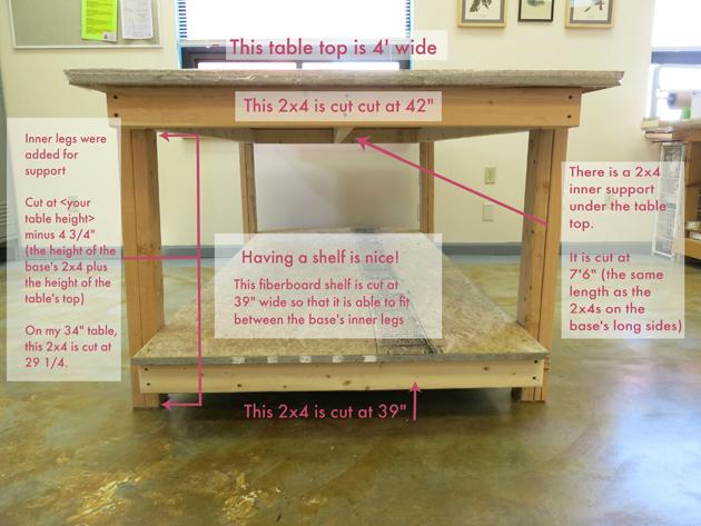 custom sewing room table