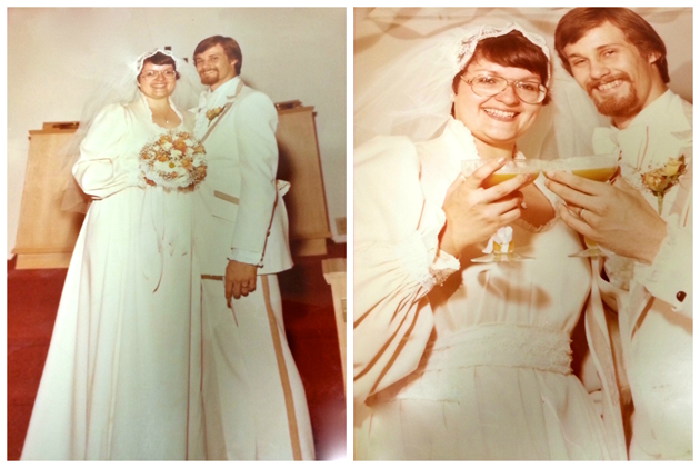 Caitlin's parents on their wedding day in 1969