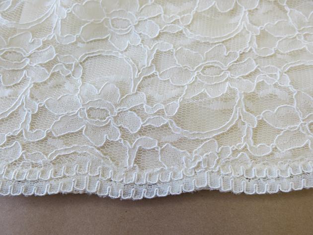 Caitlin's scallop lace horsehair hem