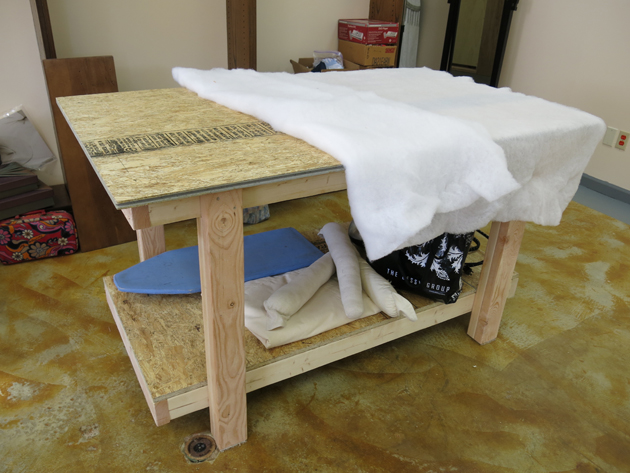 How to make a custom ironing station by Brooks Ann Camper Bridal Couture