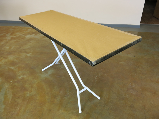 Small sewing space solution portable ironing cutting table - Ironing board solutions for small spaces ideas ...
