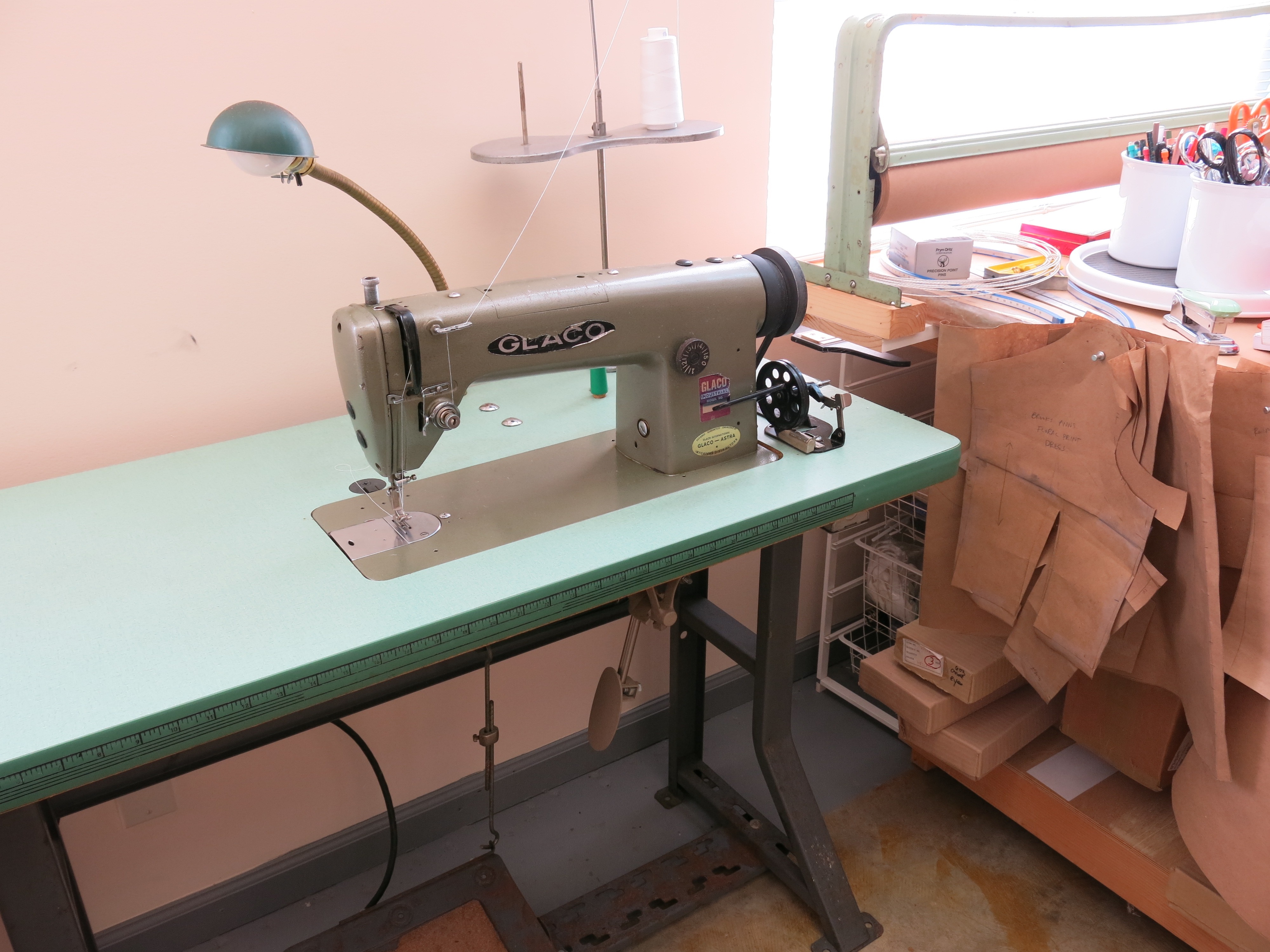 Brooks Ann Camper's industrial sewing machine