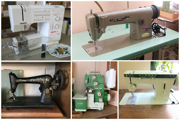 Brooks Ann Camper's sewing machines
