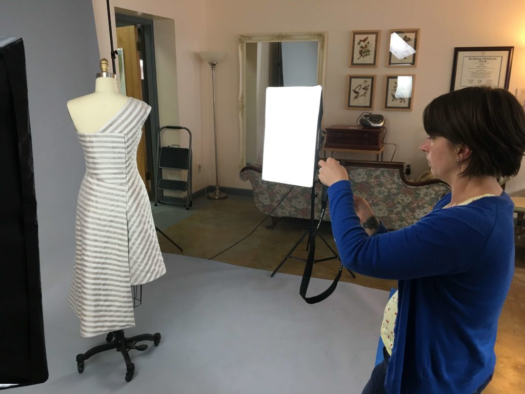 Sally's Photo Shoot and Final Fitting by Brooks Ann Camper Bridal Couture