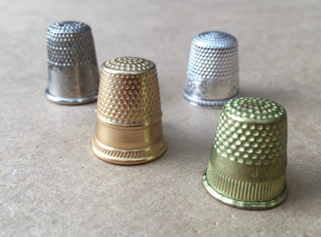 Examples of metal thimbles for hand sewing | Brooks Ann Camper Bridal Couture