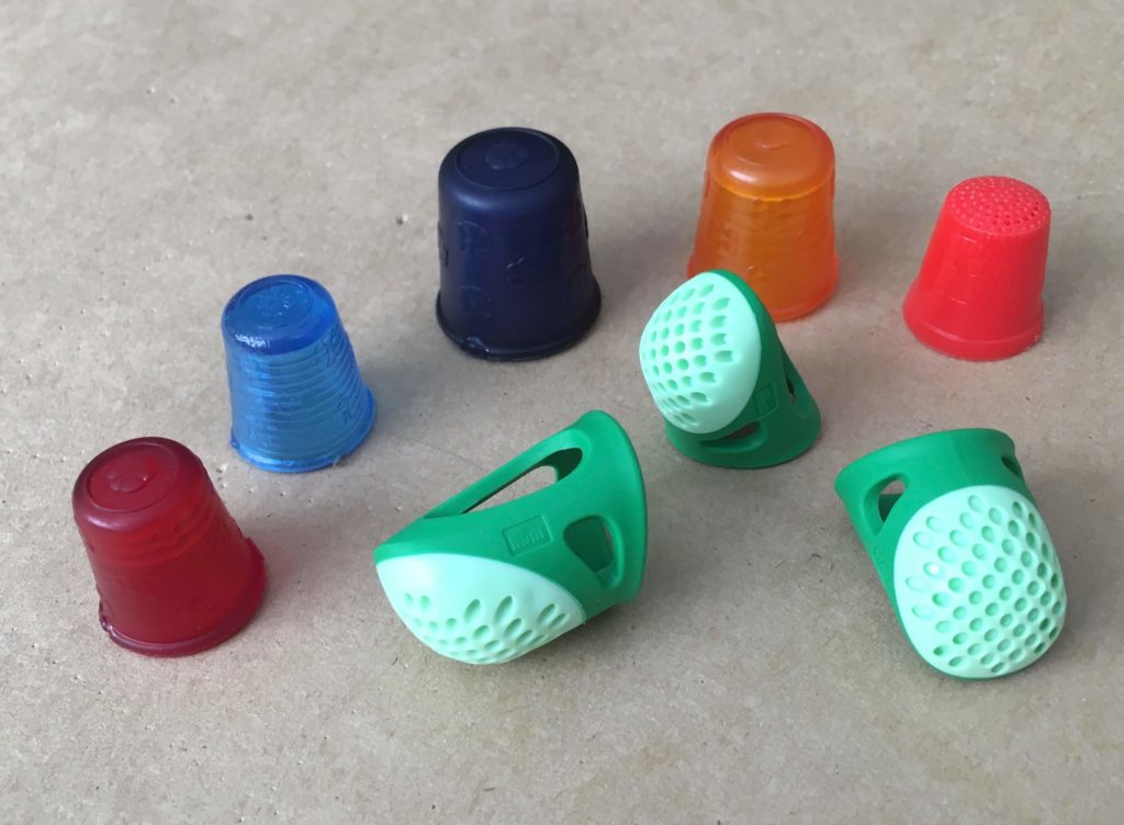 Examples of plastic thimbles for hand sewing | Brooks Ann Camper Bridal Couture