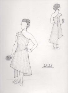 Sally's custom wedding dress sketch by Brooks Ann Camper Bridal Couture