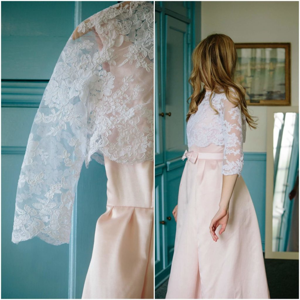 Allie J made her own wedding dress (with a little help from Brooks Ann Camper Bridal Couture)