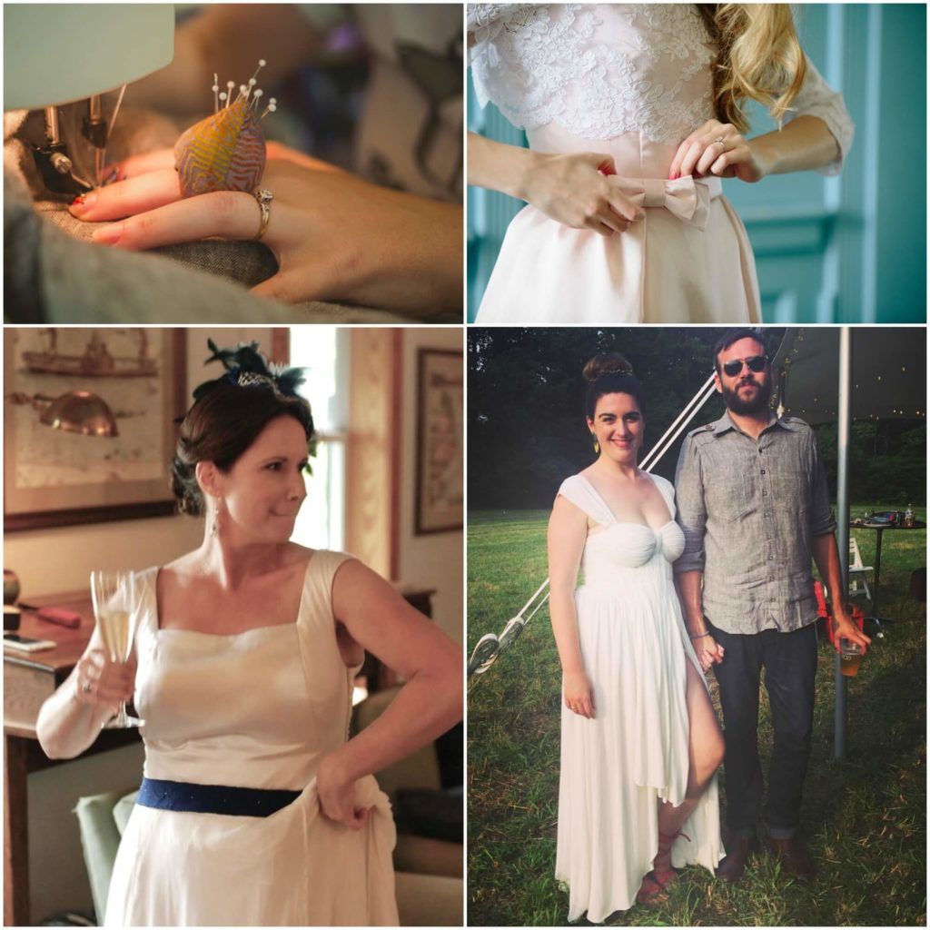 3 Brides Make their own wedding dresses with a little help from Brooks Ann Camper Bridal Couture