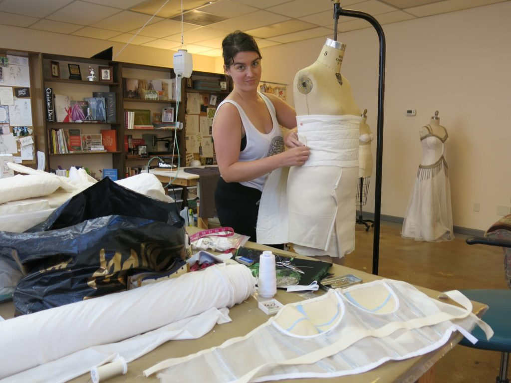 Ann Tilley made her own wedding dress (with a little help from Brooks Ann Camper Bridal Couture)