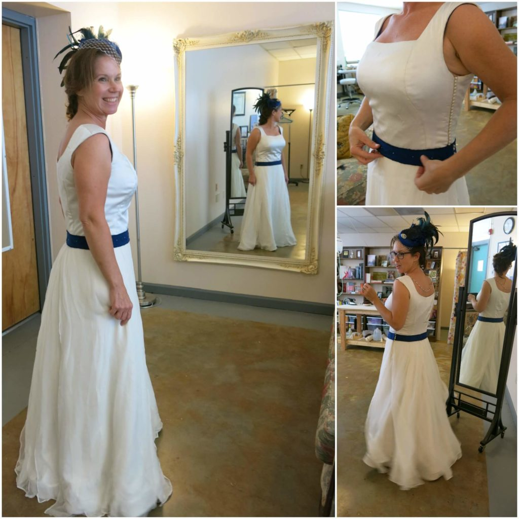 Rebecca's final fitting | She made her own wedding dress with help from Brooks Ann Camper Bridal Couture