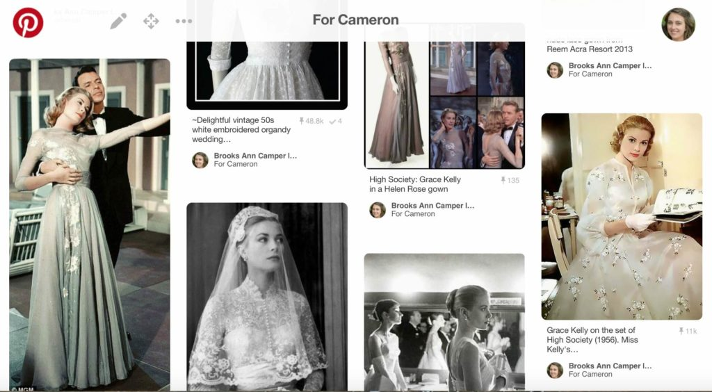 A peek at Cameron Pinterest Board | Brooks Ann Camper Bridal Couture