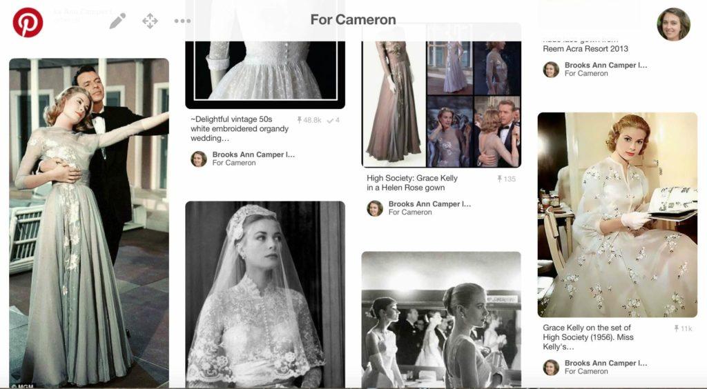 A peek at Cameron Pinterest Board | Brooks Ann Camper Bridal Couture