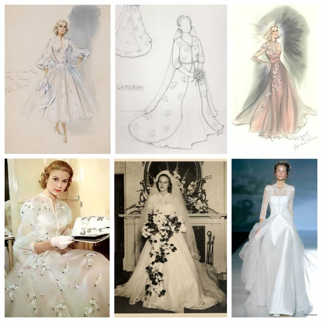 Cameron's Inspirations and Sketch | Brooks Ann Camper Bridal Couture