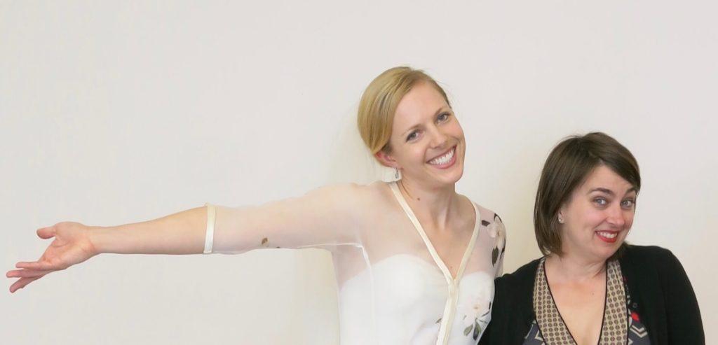 Brooks Ann Camper and her custom bride Cameron \ Brooks Ann Camper Bridal Couture
