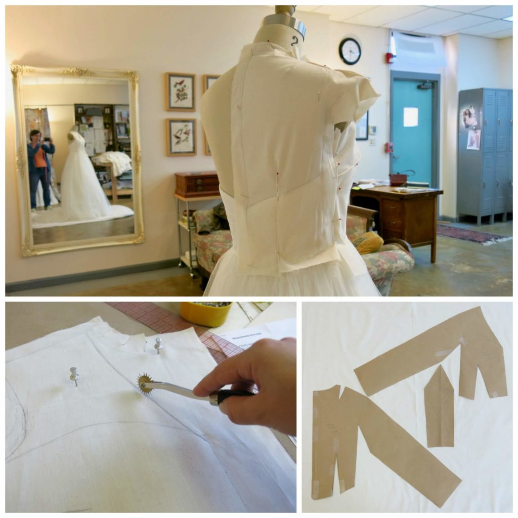 Patternmaking for Cameron's custom wedding overdress by Brooks Ann Camper Bridal Couture