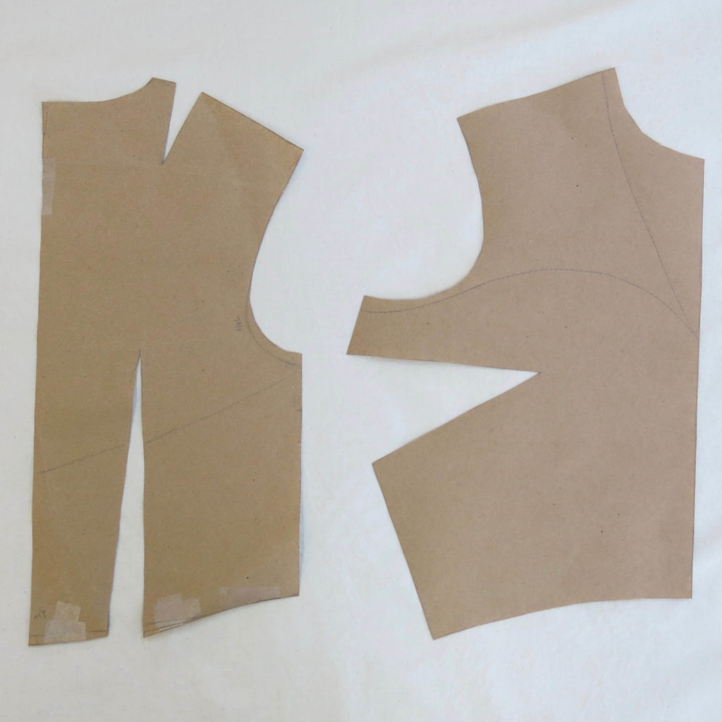 Bust dart paper pattern while Patternmaking for Cameron's custom wedding overdress by Brooks Ann Camper Bridal Couture