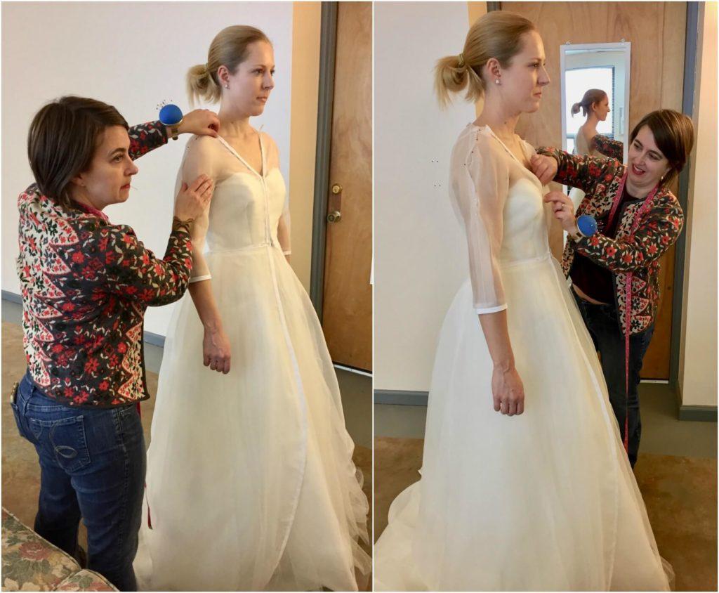 Brooks Ann Camper fits bride Cameron | Brooks Ann Camper Bridal Couture