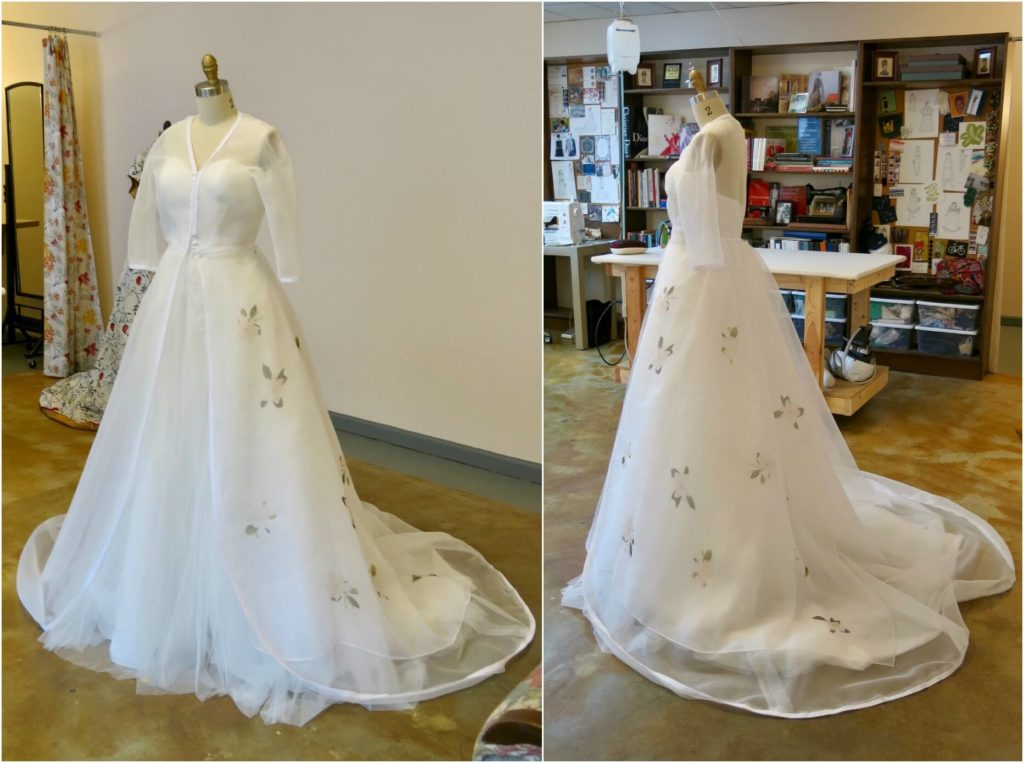 Cameron's 2nd mockup with floral sample by Brooks Ann Camper Bridal Couture
