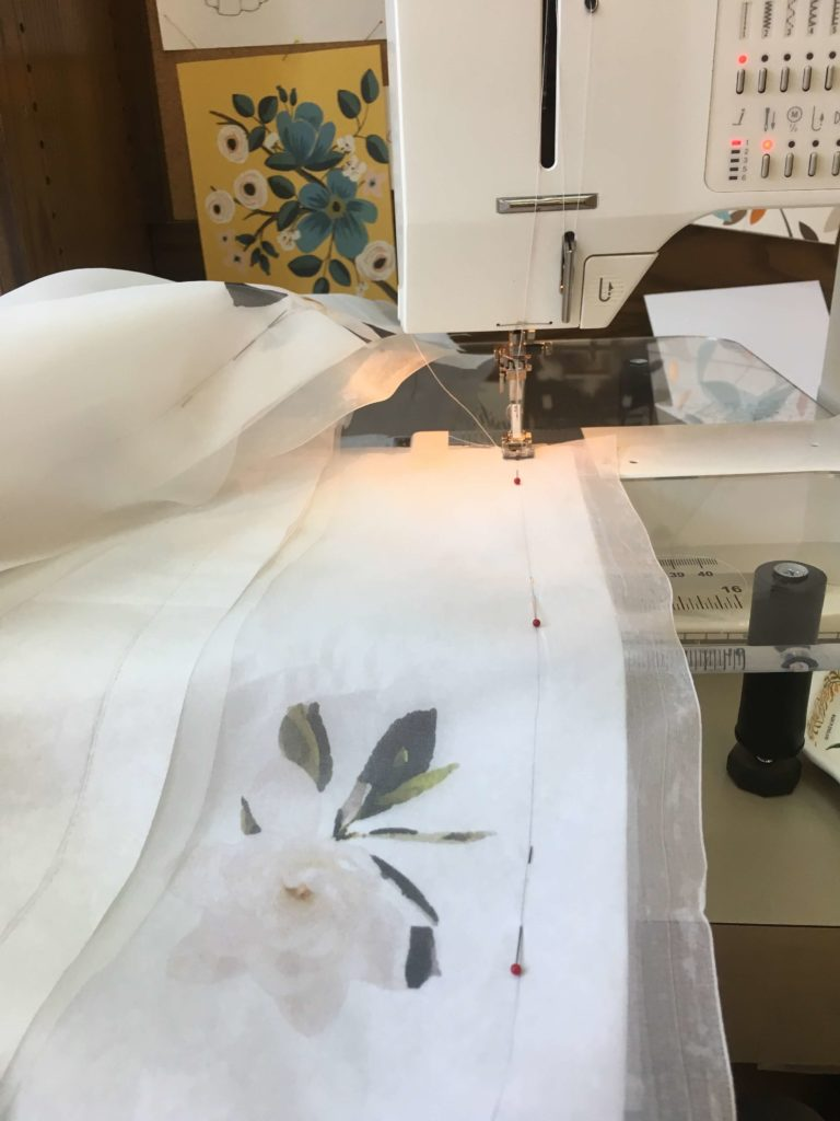 Constructing Cameron's Sheer Silk Skirt | Brooks Ann Camper Bridal Couture