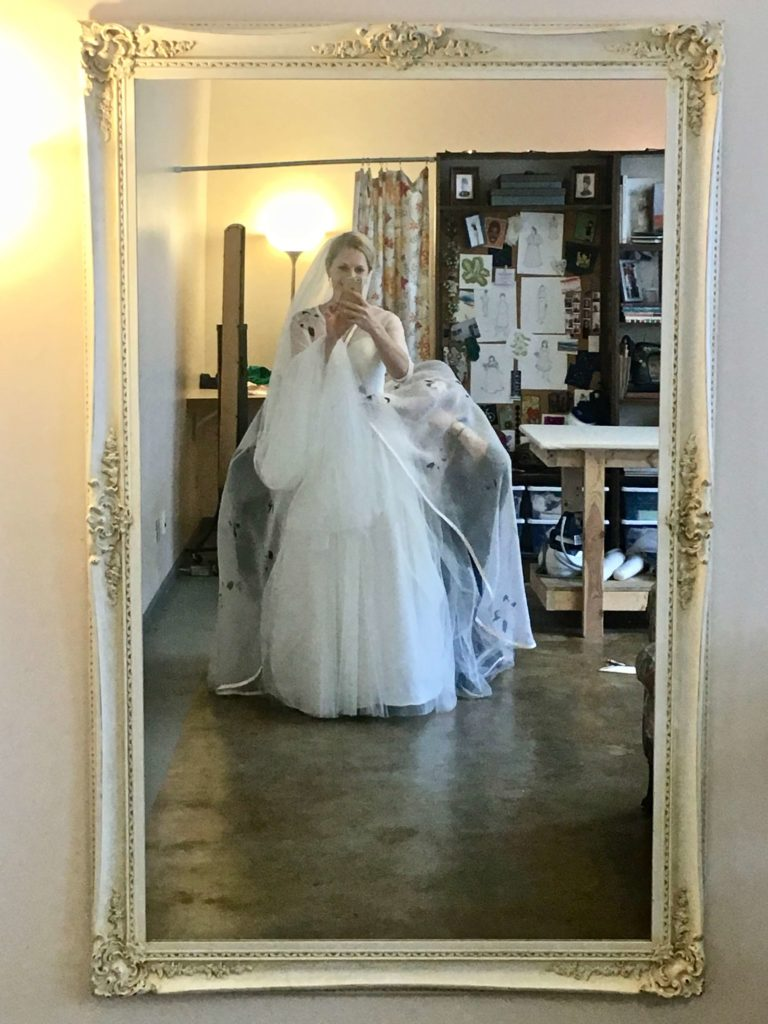 Photoshoot and Delivery Day for Cameron's Custom Wedding Dress by Brooks Ann Camper Bridal Couture