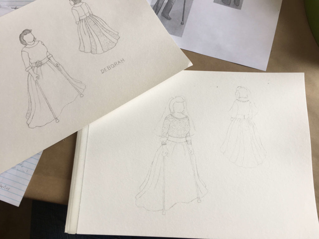 's Design Consultation and Wedding Dress Sketches by Brooks Ann Camper Bridal Couture