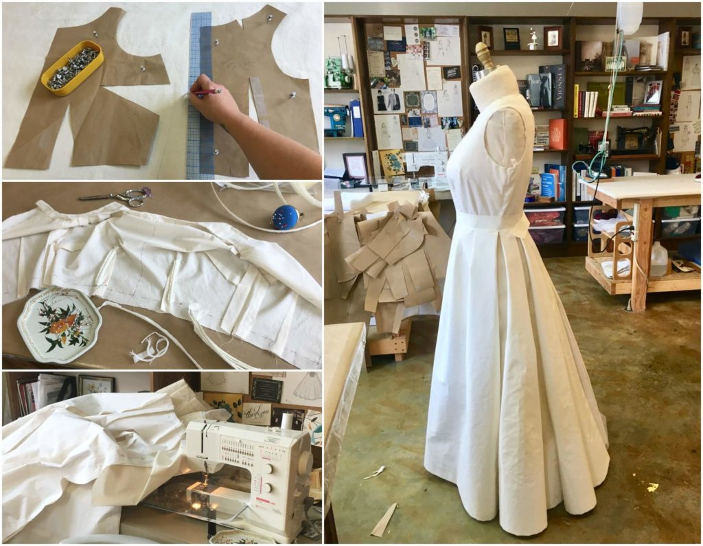 Crafting Deborah's First Mockup by Brooks Ann Camper Bridal Couture