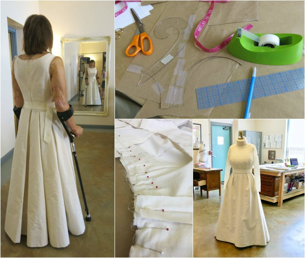 Deborah's First Fitting and Second Mockup by Brooks Ann Camper Bridal Couture
