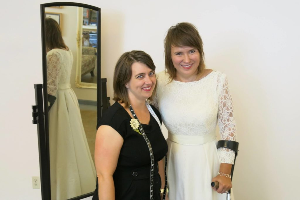 Deborah's Second and Third Mockup Fittings by Brooks Ann Camper Bridal Couture