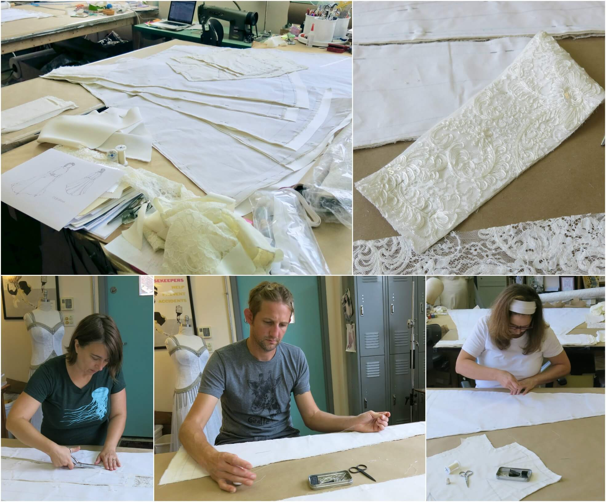Cutting and Underlining Deborah's Fabrics by Brooks Ann Camper Bridal Couture