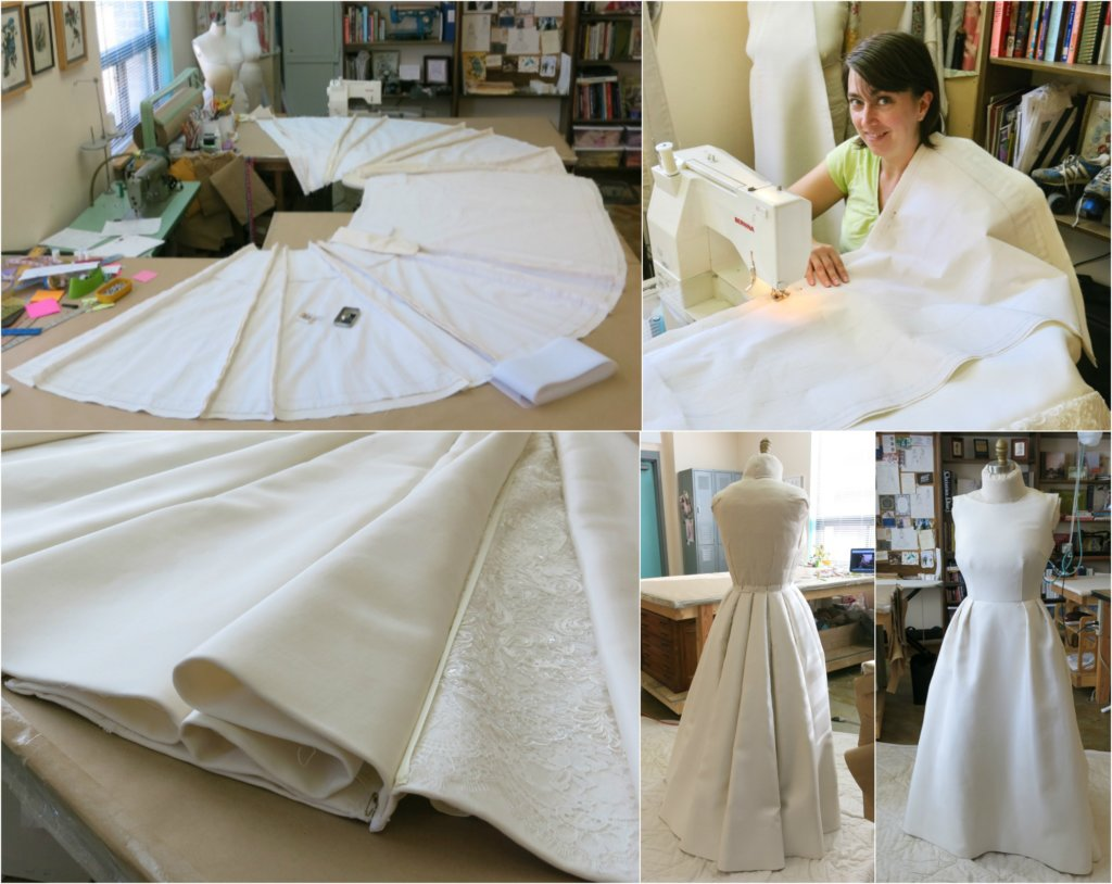 Crafting Deborah's Skirt by Brooks Ann Camper Bridal Couture