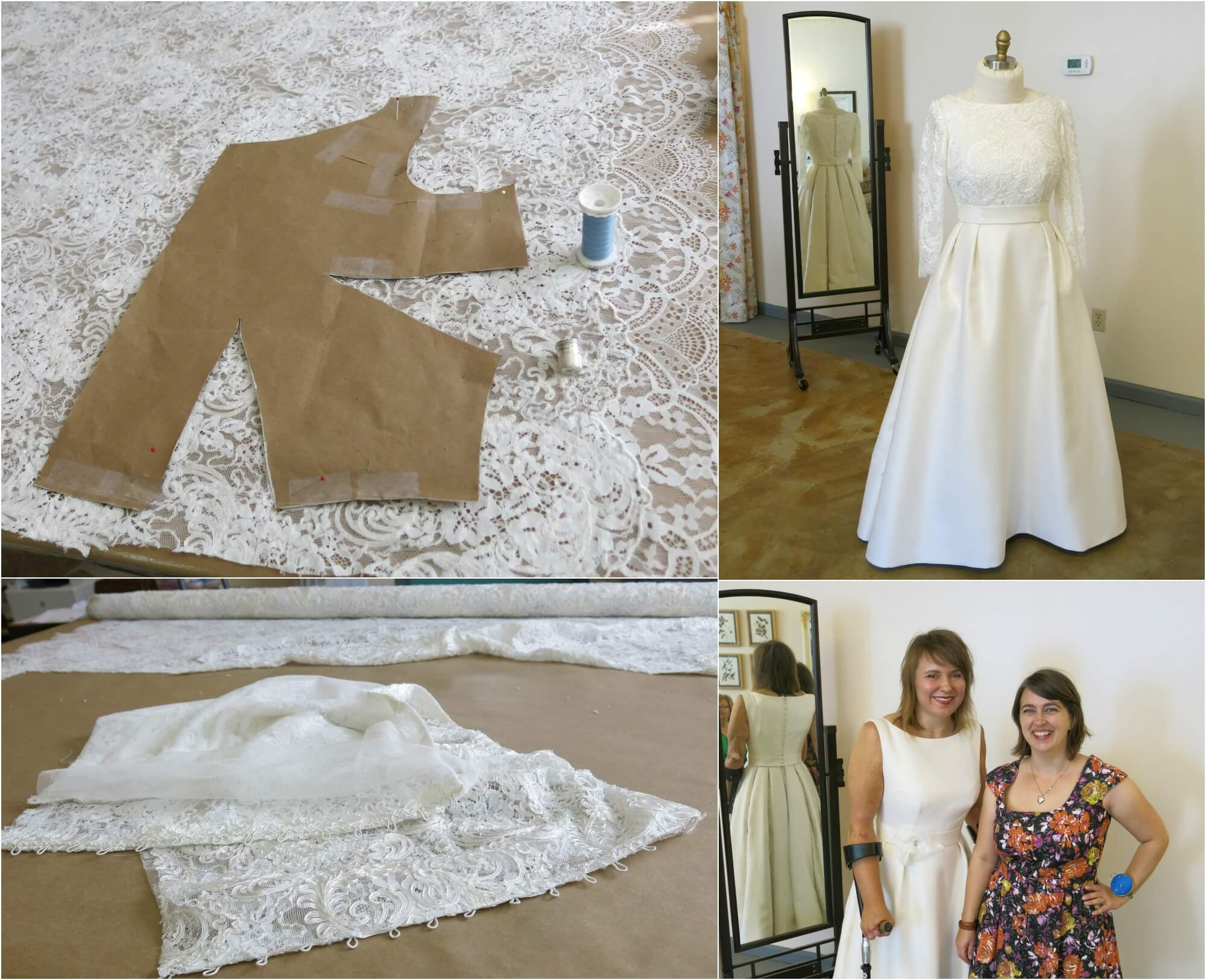 Deborah's Lace Top and Final Fitting by Brooks Ann Camper Bridal Couture