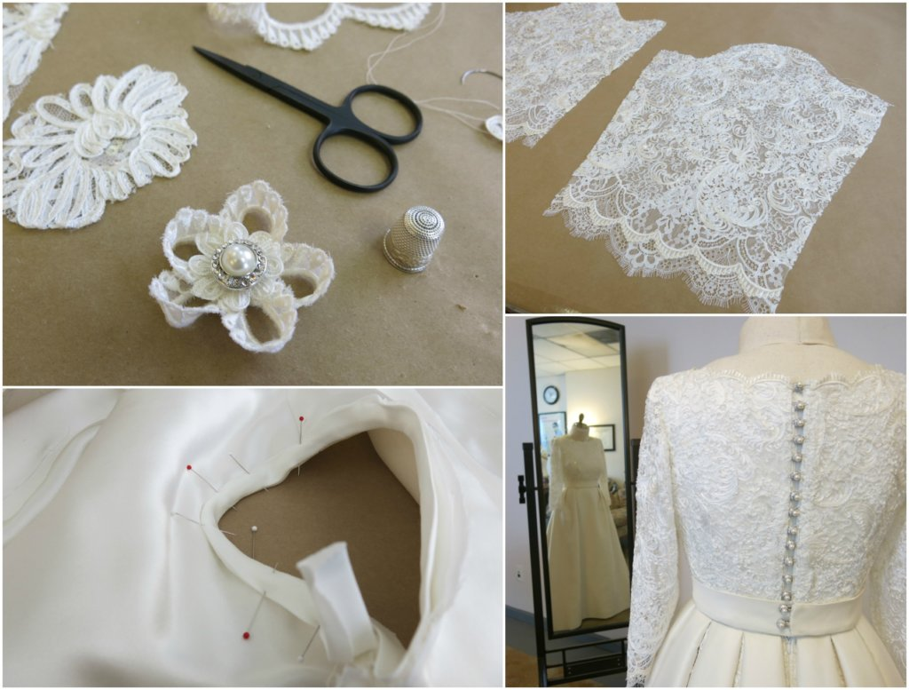 Finishing Deborah's Custom Wedding Dress | Brooks Ann Camper Bridal Couture