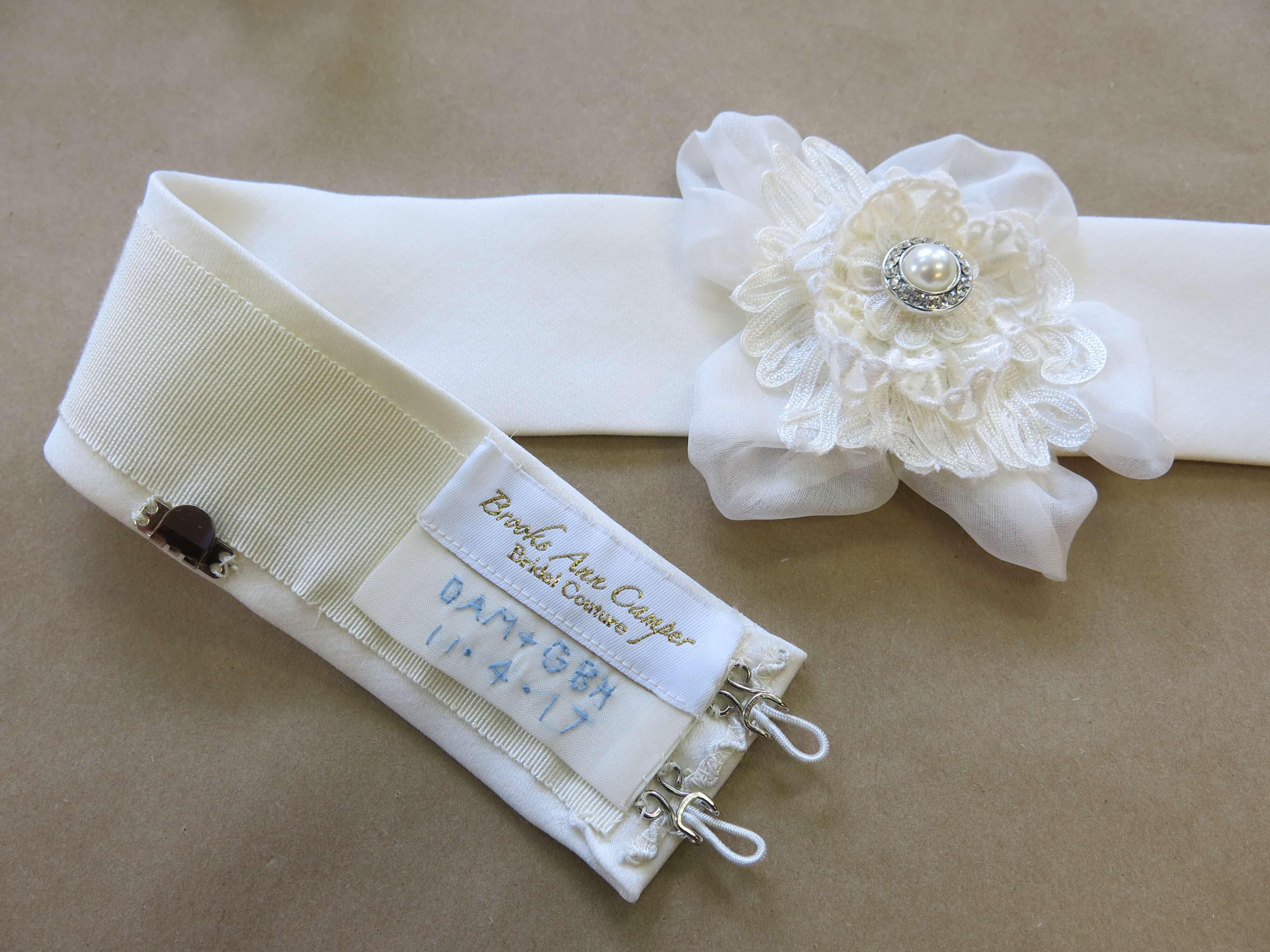 Finishing Deborah's Custom Wedding Dress | Brooks Ann Camper Bridal Couture