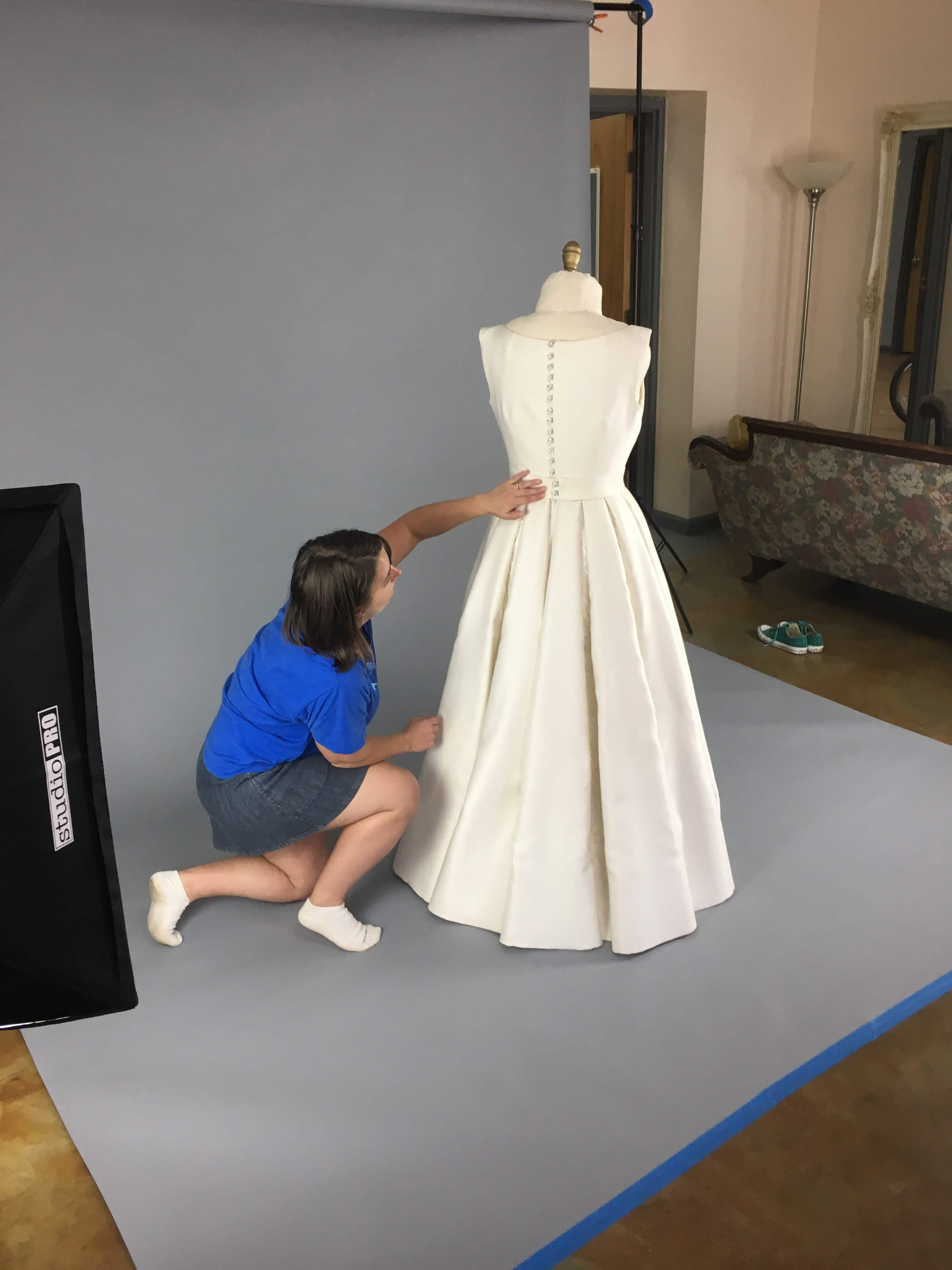 Deborah's Photoshoot and Delivery Day by Brooks Ann Camper Bridal Couture