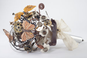 Erin's Steampunk bouquet by Brooks Ann Camper Bridal Couture