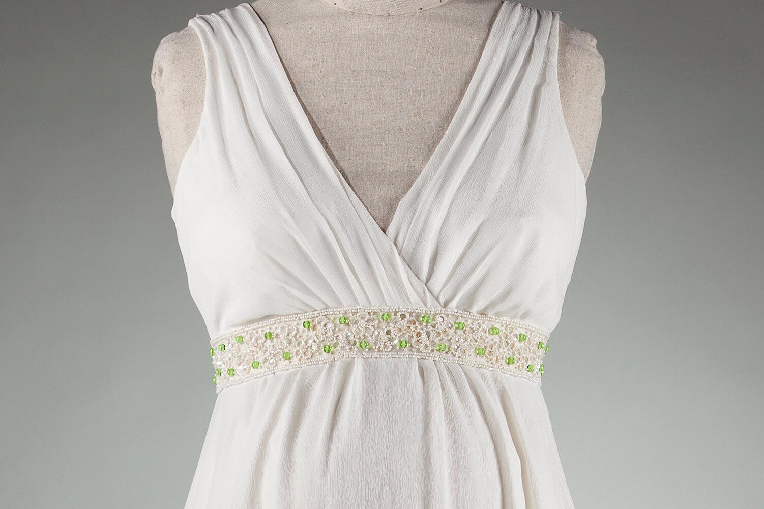 Melissa's custom wedding dress by Brooks Ann Camper Bridal Couture