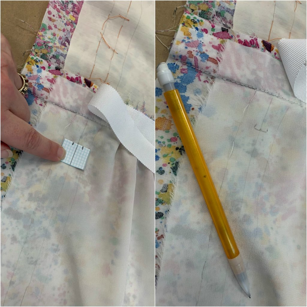 using the template to mark my buttonholes